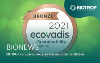 BIOTROP conquista selo Ecovadis de Sustentabilidade